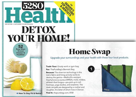 ThePureBag's Bennett Bag Featured in January Issue of Denver's 5280